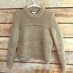 Madewell Cable Knit Sweater- muted army green